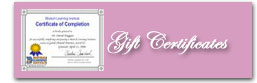 maid gift certificates